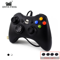 Данных лягушка USB проводной геймпад для Xbox 360 контроллер Джойстик для официальный Microsoft ПК контроллер для Windows 7 8 10