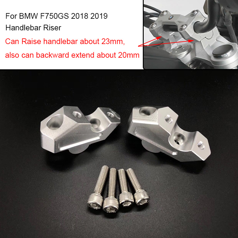 Easygo Motorcycle Handlebar Riser Handle Bar Brackets Compatible with BMW F750GS 2018 2019