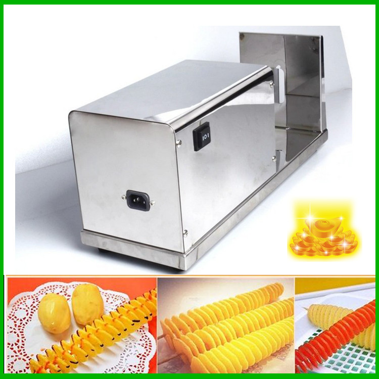 18 Stainless Steel Potato Stringing Machine Good Quality Spiral Potato Chip Makers Industrial Electric Potato Cutter