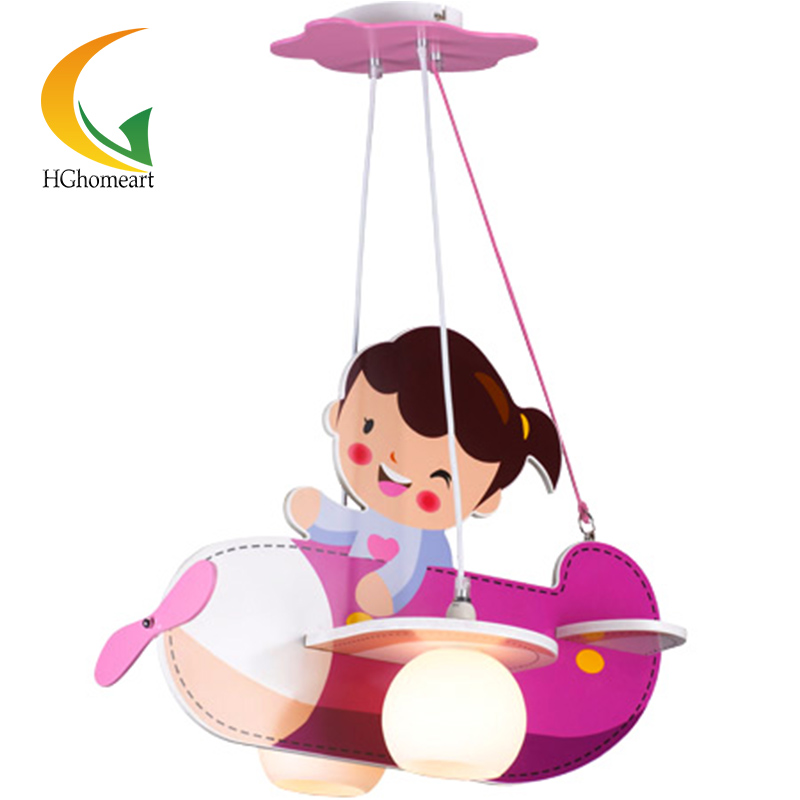 Children lamp children's bedroom lamp aircraft lamp creative children's room pink cartoon girl child ceiling light m sparkling td303 creative cartoon 3d led lamp