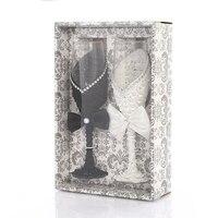 2 шт. Свадебные бокалы es персонализированные шампанского флейты кристаллические вечерние поджарки бокал Кристалл гравировка юбилей