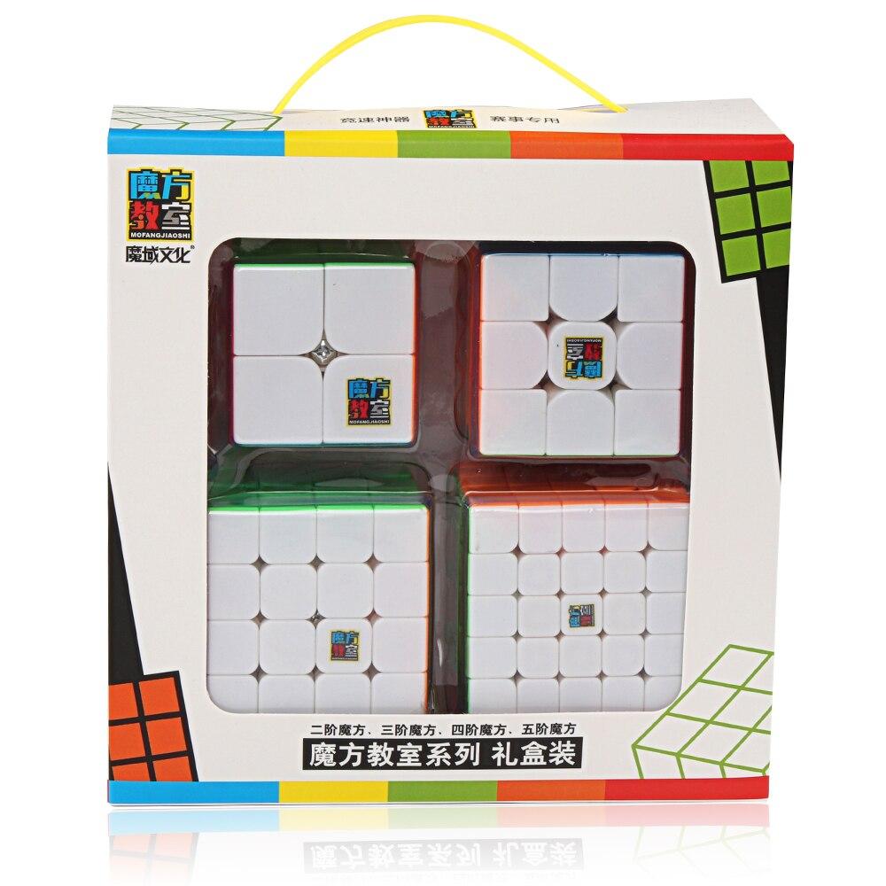 D-FantiX Moyu Mofangjiaoshi Vitesse Cube Ensemble MF2S 2x2 MF3S 3x3 MF4S 4x4 MF5S 5x5 Magique puzzle de cubes Stickerless 4 pièces Jouets - 2