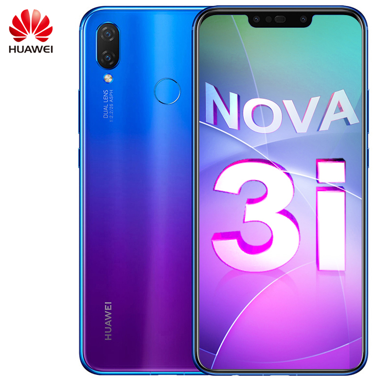 Global ROM Original Huawei Nova 3i martphone Android 8 1 Kirin710 Octa Core Mobile phone Glass