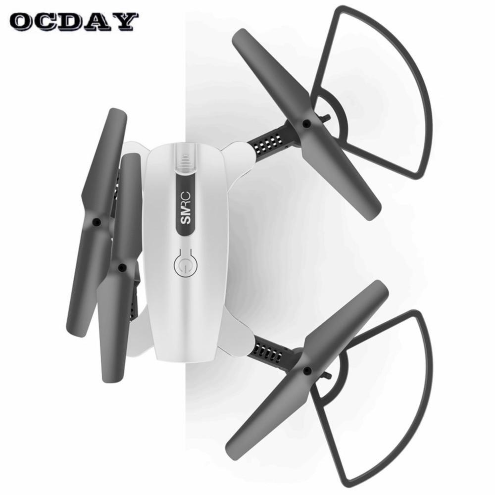 цена SMRC S6 RC Foldable Mini Headless Mode drone quadcopter aircraft with 720P WIFI HD camera LED Light Altitude Hold ti