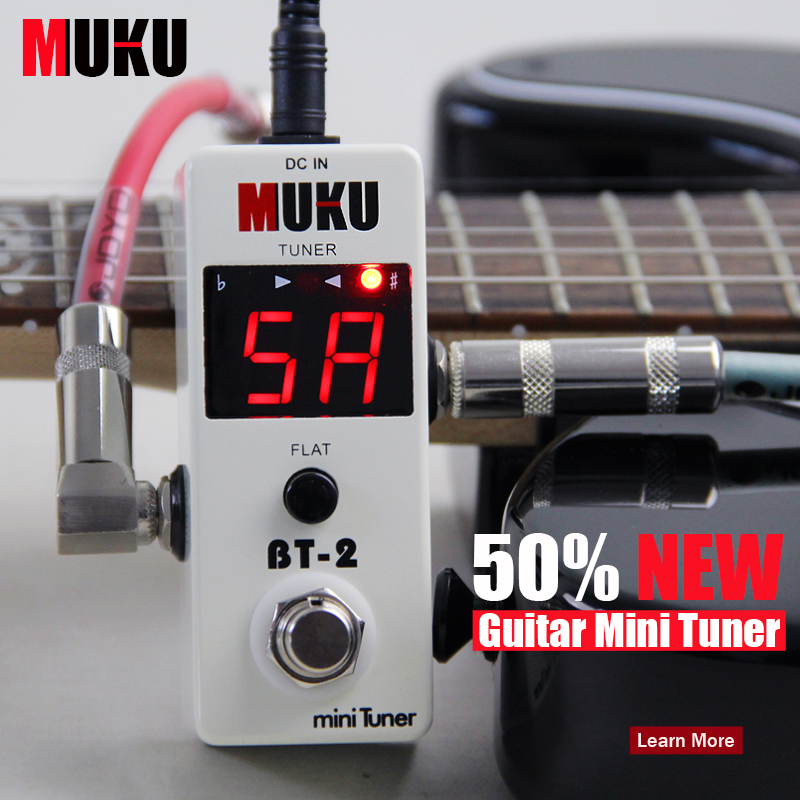 new effect guitar pedal tuner mini tuner electric or electro acoustic instruments bass 108 high. Black Bedroom Furniture Sets. Home Design Ideas