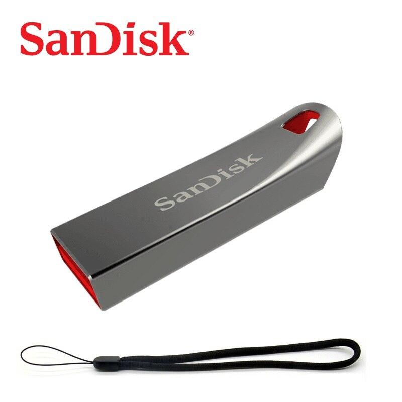 SanDisk Pen Drive 8GB 16GB 32GB USB Flash Drive 64gb mini metal pendrive memoria usb 2.0 cle usb 4GB flash usb stick CZ71 sandisk ultra fit cz430 128gb usb 3 1 flash drive up to 130mb s read 64gb mini pen drive high speed usb 3 1 usb stick 32gb 16gb