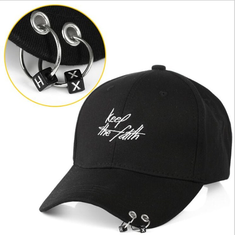 Seioum Hot Jual Fashion KPOP Bigbang Besi Cincin Bola Topi Adjustable  Baseball Cap 27a8e14326