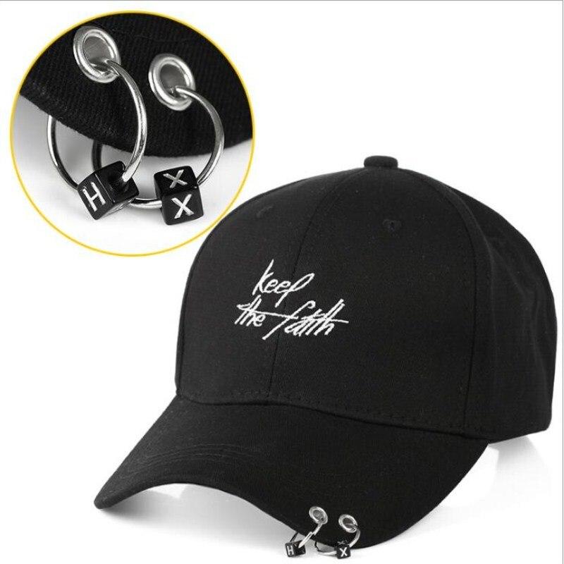 Seioum Hot Selling Bigbang Fashion KPOP Iron Ring Ball Hats Adjustable   Baseball     Cap