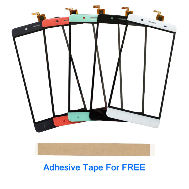 5.5 Inch For BQ BQS-5515 Wide BQS5515 Touch Screen Sensor Glass Digitizer Front Glass Black White Red Green 1PC/Lot With Tape
