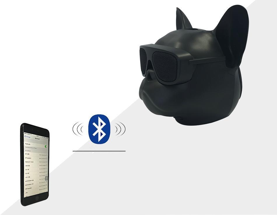 Fashion Wireless Bluetooth Bulldog Head Speakers Sunglass Mobile Subwoofer Multipurpose Portable Loud Speaker TF card player