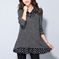 M 5XL Plus Size Cotton Tops Long Sleeve Women S T Shirt Casual Long Tee Autumn