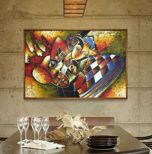 World famous paintings picasso abstract painting woman playing the