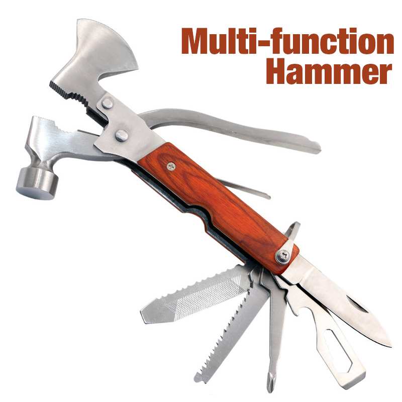 19 In 1 Multifunctional Car Safety Hammer Emergency Rescue Tool Seat Belt Cutter Window Glass Break Outdoor Survival Tool