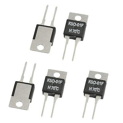 5 Pcs 1.5A 250VAC/ 24VDC 30C/40C/45C/50C/55C/60C/70C/75C/80C/85C/90C/100C/120C NO Temperature Control Switch Thermostat KSD-01F