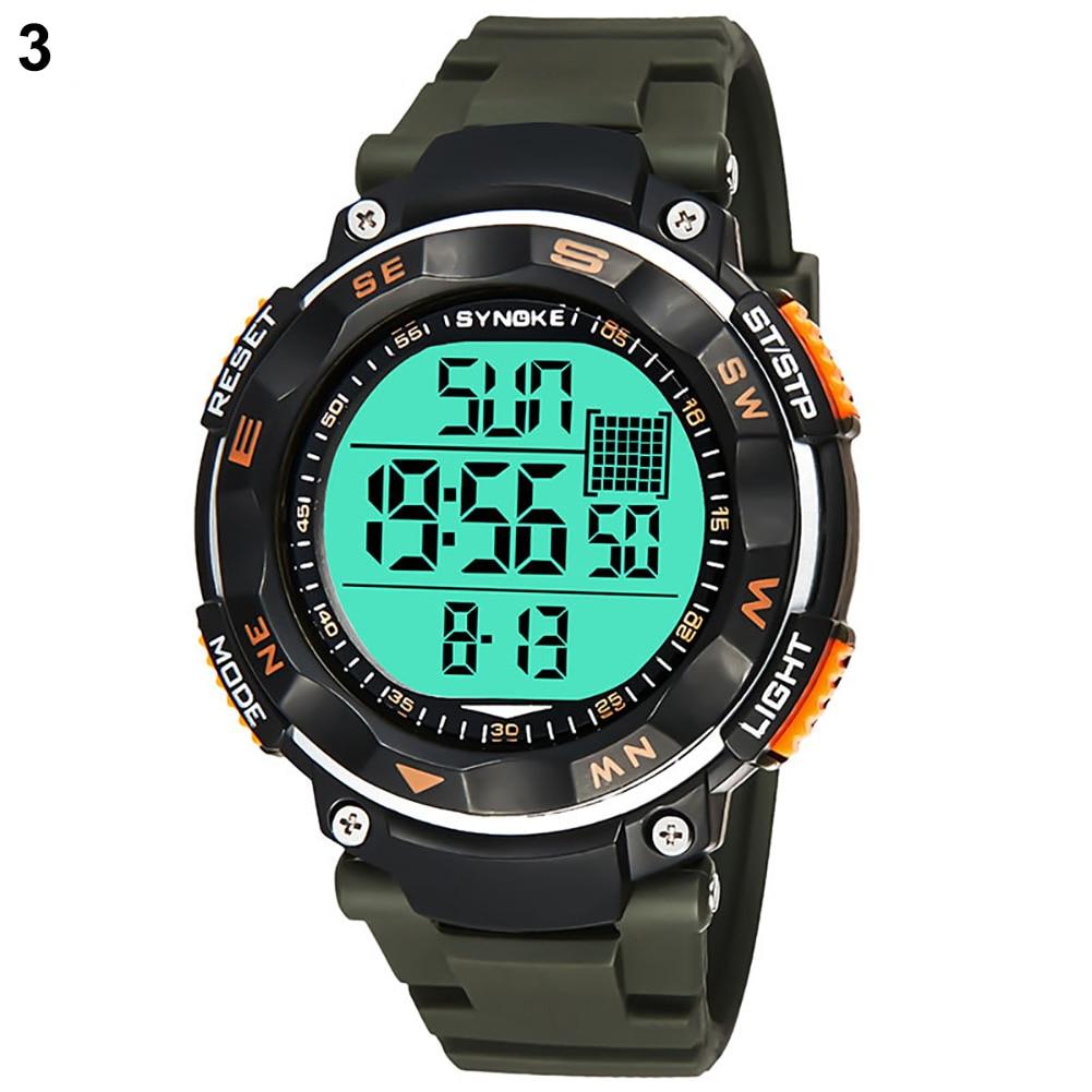 Waterproof Sport Men Dual Time Zone Date Alarm Stopwatch Digital Wrist Watch