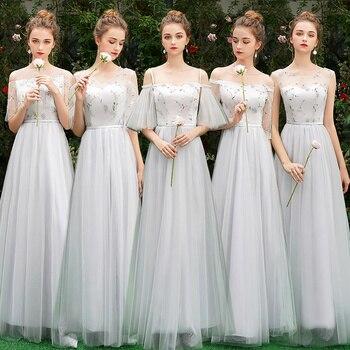 b9a59f376845906 Красота-Эмили кружевное платье подружки невесты 2019 длинный плюс размер  для женщин A-Line платье с рукавами средней длины da dama de honra