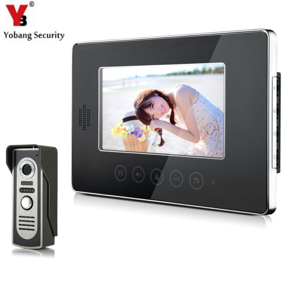 YobangSecurity Video Door Phone Intercom 7Inch Monitor Video Intercom Door Phone Doorbell Kit For Apartment 1 Camera 1 Monitor 7 inch video door phone doorbell intercom kit 1 camera 1 monitor