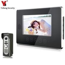 YobangSecurity Video Door Phone Intercom 7″Inch Monitor Video Intercom Door Phone Doorbell Kit For Apartment 1 Camera 1 Monitor