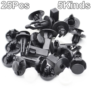 Image 3 - 25pcs Bumper Panel Wheel Arch Fasteners Trim Cover Clips Set For Toyota Avensis
