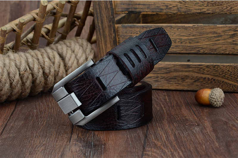 COWATHER 2017 QUALITY cow genuine luxury leather men belts for men strap male pin buckle BIG SIZE 100-130cm 3.8 width QSK001 14