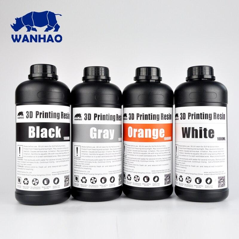 Cheap and high quality 405NM WANHAO Resin DLP Printer Resin SLA 3D Printer Resin , 2 Liters ( 2 bottles of 1 liter )