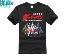 Gatchaman G-Force Belt Logo Anime Cartoon Mens White Black T-Shirt Size S-3XL Men Cotton Printed  T Shirt Top Tee