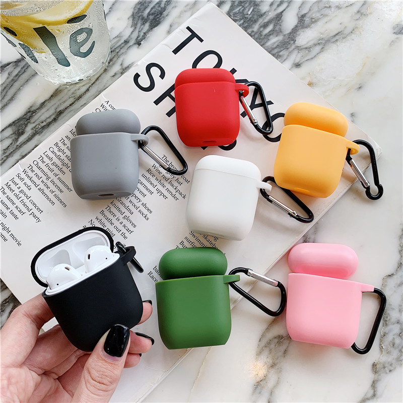Candy Colorful TPU Silicone Bluetooth Wireless Earphone Case For AirPods Protective Cover For Apple Airpods Headset Charging Box