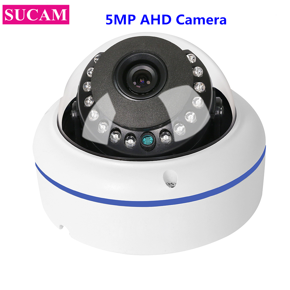 SUCAM Home Security 5MP AHD Fisheye Surveillance Camera 180 Degree Wide Angle Sony 326 Infrared CCTV Camera 1.7mm 3.6mm lens sucam wide angle 5mp ahd security camera outdoor 1 7mm 180 degrees fisheye lens night vision waterproof cctv camera with bracket