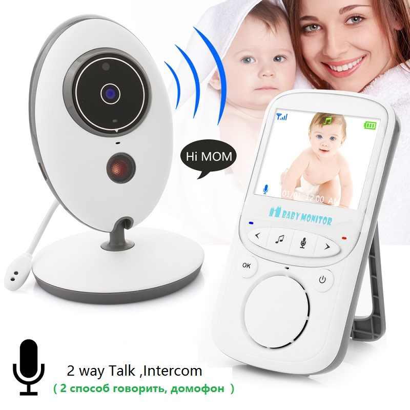 Babykam monitor de audio alarm dla dziecka VB605 rosyjski menu 2.4 cal TFT LCD IR Night Vision domofon monitor temperatury VOX tryb