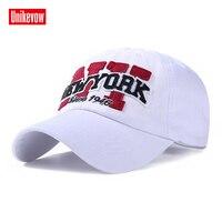 Unikevow 100% Cotton Mũ Bóng Chày Thư Nắp Snapback Nam Mũ New York Mũ Phụ Nữ Có Thể Điều Chỉnh Mùa Thu Mùa Xuân Hat