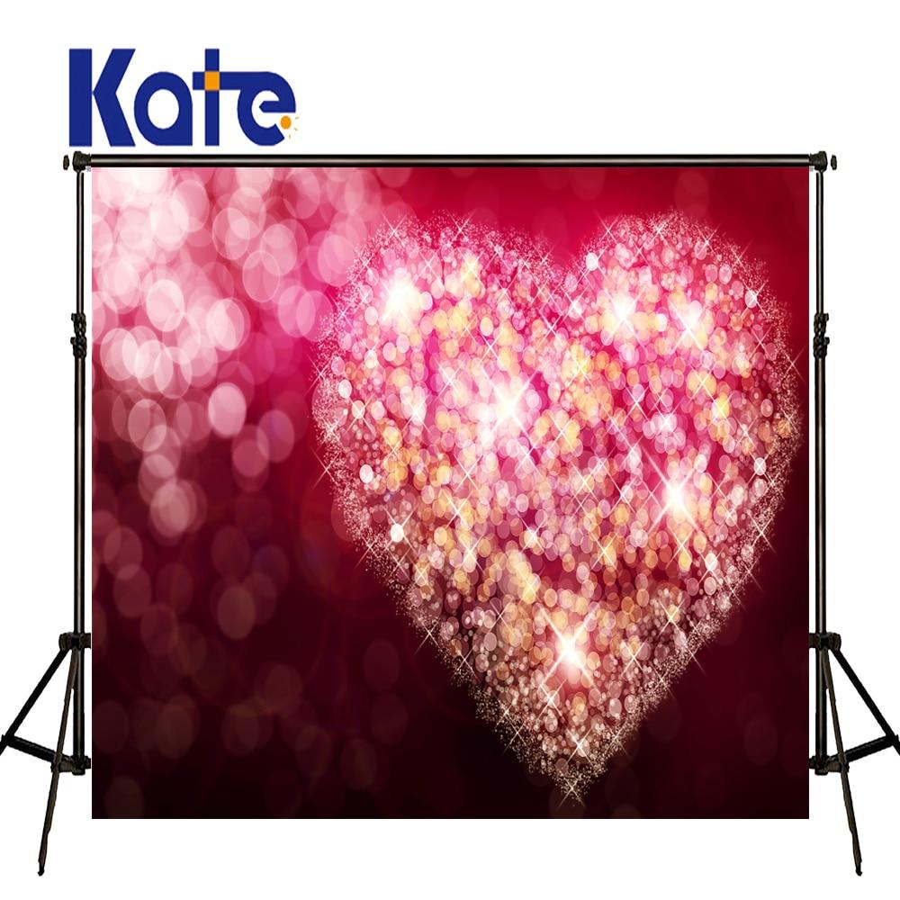 Warm Romantic Valentine'S Day Backdrops Fantasy Love Sparkling Aura Wedding Photo Backgrounds