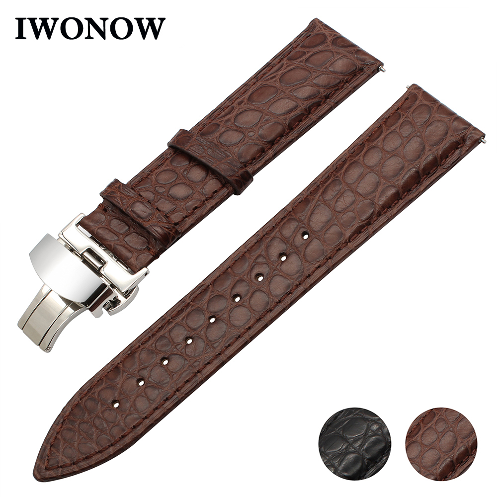Genuine Crocodile Leather Watchband 18mm 20mm 22mm for Certina Victorinox Tissot Men Women Croco Watch Band Quick Release Strap women crocodile leather watch strap for vacheron constantin melisa longines men genuine leather bracelet watchband montre