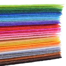 Non Woven Fabric 1mm Thickness Polyester Felt Of Home Decoration Pattern Bundle For Sewing Dolls Crafts 40pcs 20x30cm