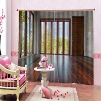 High quality custom 3d curtain fabric room curtains Blackout curtain