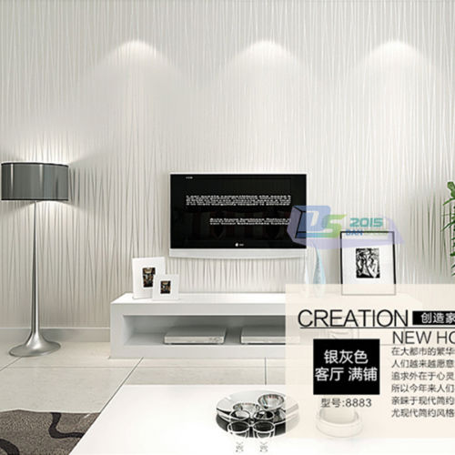 preis auf silver striped wallpaper vergleichen - online shopping ... - Wohnzimmer Grau Silber