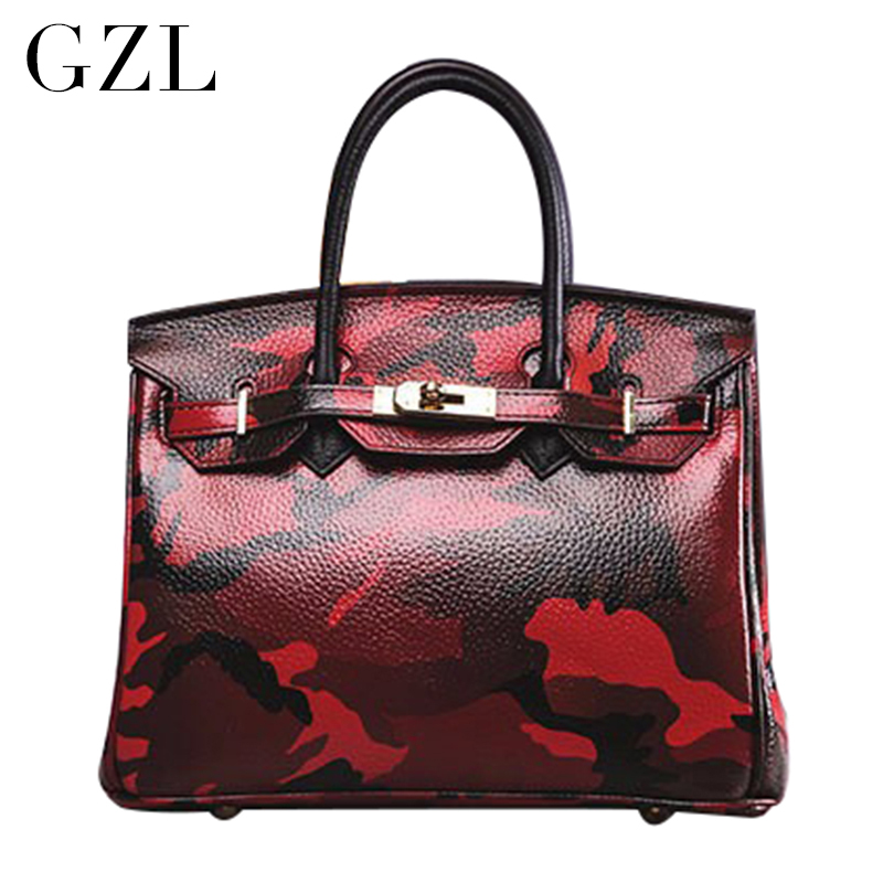GZL Women Fashion bags Europe and the United States the latest fashion handbags female Camouflage bag tote bag HB0009  gzl 2017 female backpack europe and the united states simple style fashion backpack college backpack bucket bag leisure package