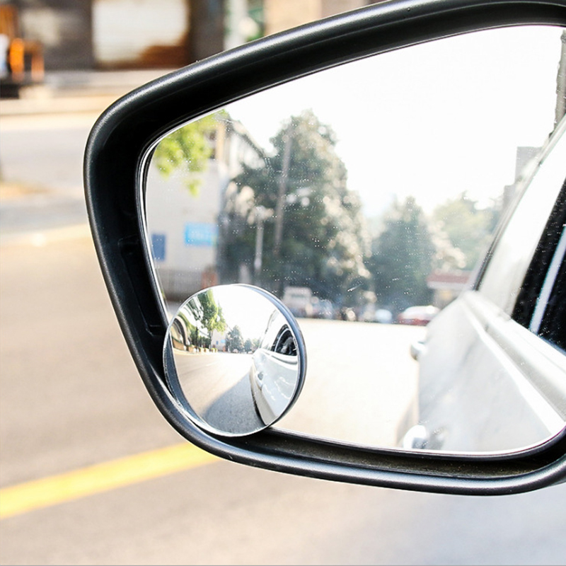 360 Degree Mirror Suction Cup Installing Auto Rear Seat View Mirror No Frame No Blind Spots Rearview Mirror