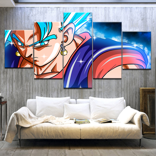 aliexpress com buy 5 piece hd printed super saiyan blue vegito vs