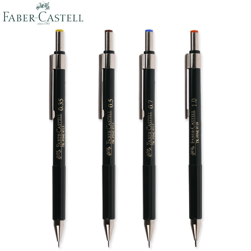 mechanical pencil 0.35 - Germany FABER CASTELL Mechanical Pencil TK FINE 9715 Mechanical Pencil 0.35 /1.0 / 0.5 / 0.7 mm Professional Drawing Pencil