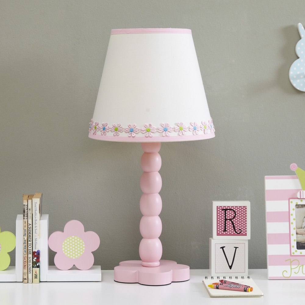 Led Table Lamps Lights & Lighting Lovely Creative Healthy Pink Wood Fabric Flowers Led E27 Table Lamp For Girls Room Bedroom Kids Present H 52cm 1771