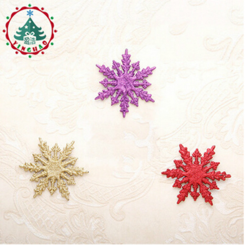 Adornos Navidad 2018 Navidad 9.5X11cm Artificial Snow &Snowflakes Christams Decations For Home Christmas Tree Ornaments