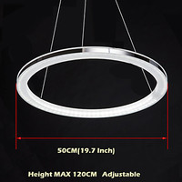 JCZ LED Pendant Lights Round Acrylic Ceiling Lamp with Single Ring D50CM 50*50*2.5CM Ac110 240 v free shipping