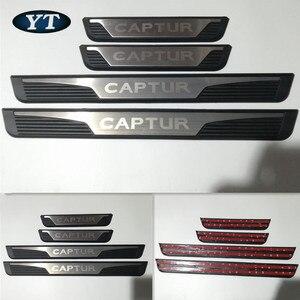 Image 2 - Auto scuff plate, door sill plate threshhold for Renault captur 2016 2018 2019,auto accessories,4pcs/set.