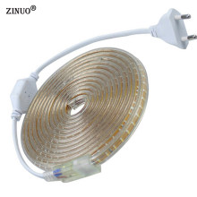ZINUOa Multicolor 3014 Led Strip 220V Waterproof With EU Power plug Flexible LED Tape Ribbon Outdoor 1M 2M 3M 5M 10M 15M 20M(China)