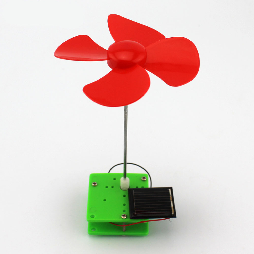 Simple Science Experiment DIY Solar Energy Rotating Wind Mill Handmade Puzzle Assembled Toys Creative Physics Teaching Resources