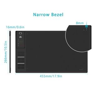 Image 2 - HUION Giano WH1409 V2 אלחוטי דיגיטלי עט לוח גרפי ציור לוח עם פונקצית הטיה סוללה משלוח Stylus וכפפות