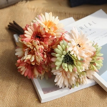Silk Gerbera Flower Handmade Wedding Artificial Fake Daisy Bouquet Bridal Home