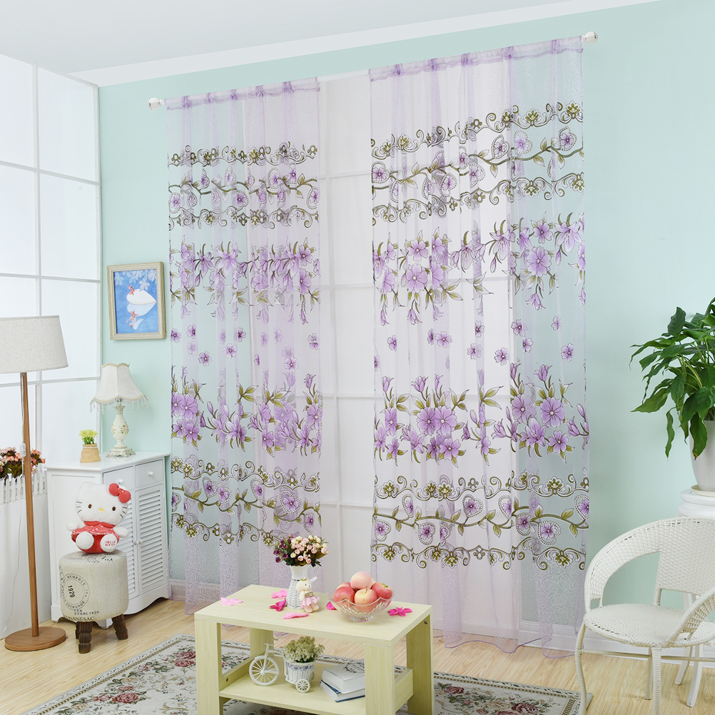 Gray and yellow window treatments - Modern Transparent Tulle Curtains Window Treatments Living Room Children Bedroom Colorful Yellow Sheer Curtain Fashion Design