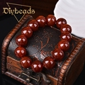 Fashion Red Agate Bracelet Natural Stone Lap Bracelets Jewelry Charm Beads Bracelet Gifts Diybeads