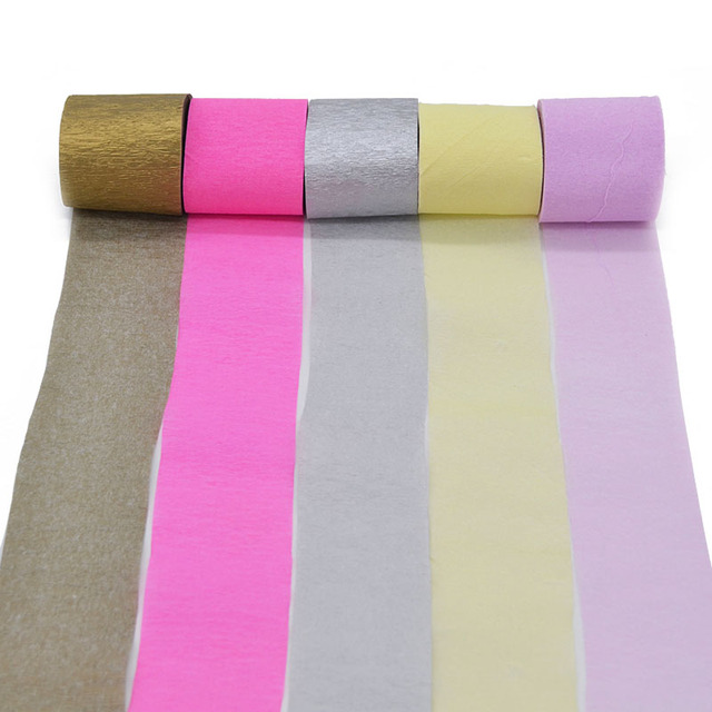 Us 1 01 22 Off 1roll 5x100cm Crepe Papers Flower Making Diy Handmade Materials Crinkled Paper Tassel Garland Banner Backdrop For Wedding Party In